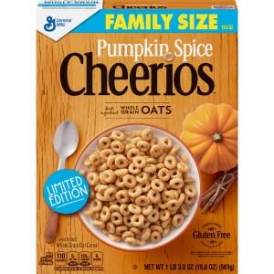 pumpkin spice snacks cheerios