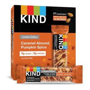 pumpkin spice snacks kind bars caramel almond