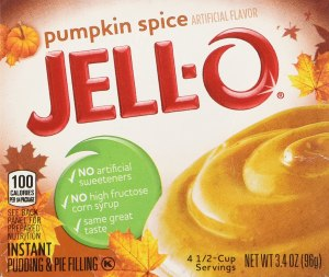 pumpkin spice snacks kraft jell o