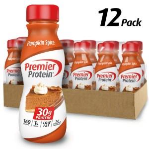 pumpkin spice snacks premier protein shake