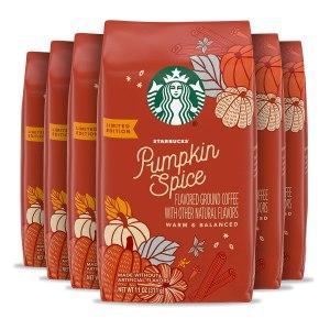 pumpkin spice snacks starbucks flavored coffee