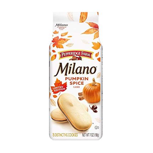pumpkin spice snacks pepperidge farm milano
