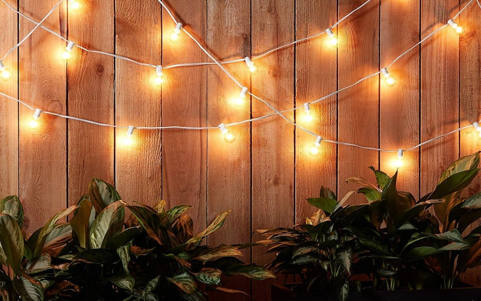 outdoor string lights decor