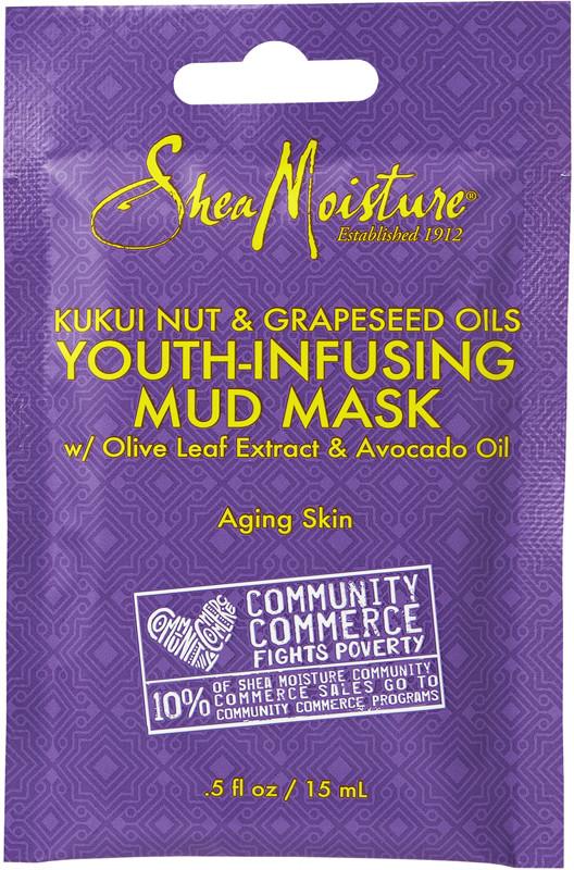 avocado oil skin care routine anti-aging shea moisture kukui nut grapeseen oils youth-infusing mud mask