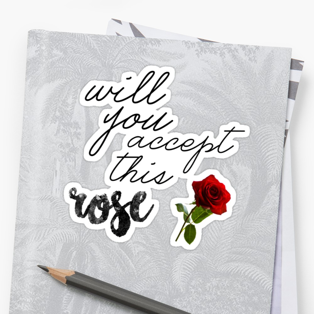 best gifts fans Bachelorette Bachelor sticker will you accept this rose