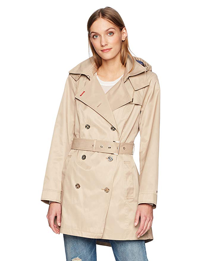 burberry trench coat alternatives fall tommy hilfiger womens double breasted casual