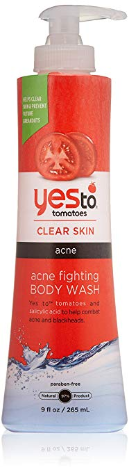 yes to tomatoes acne fighting body wash