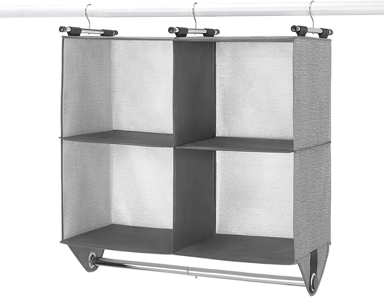 best ways to organize closet hanging shelves