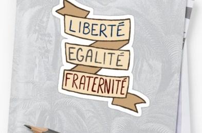 french revolution sticker set- liberté egalité fraternité