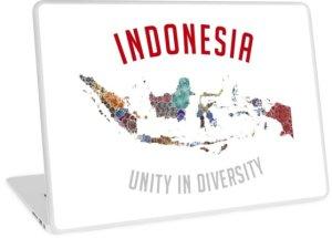language quotes inspiring travel mottos indonesia unity in diversity laptop skin