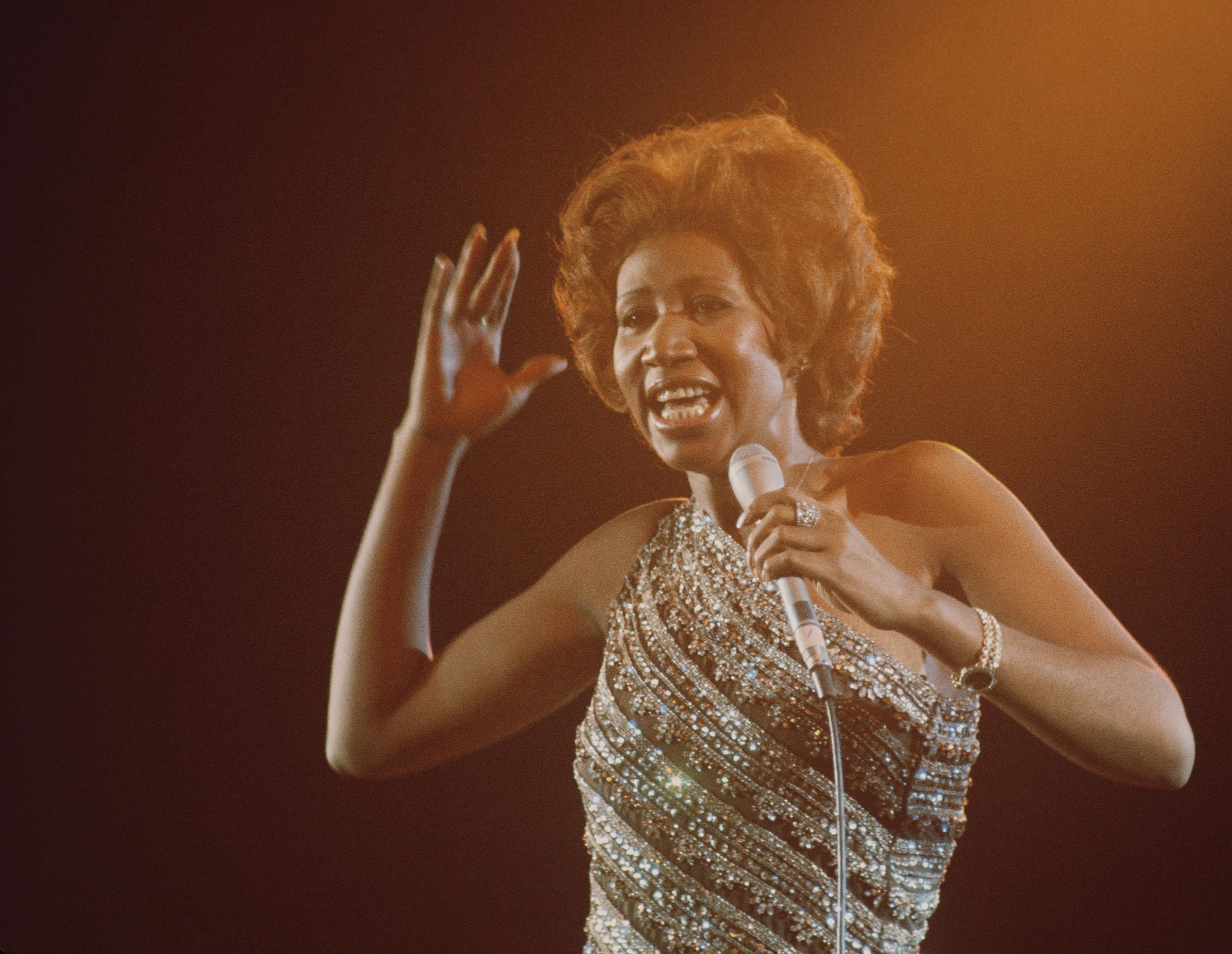 aretha franklin 1967 performance photos