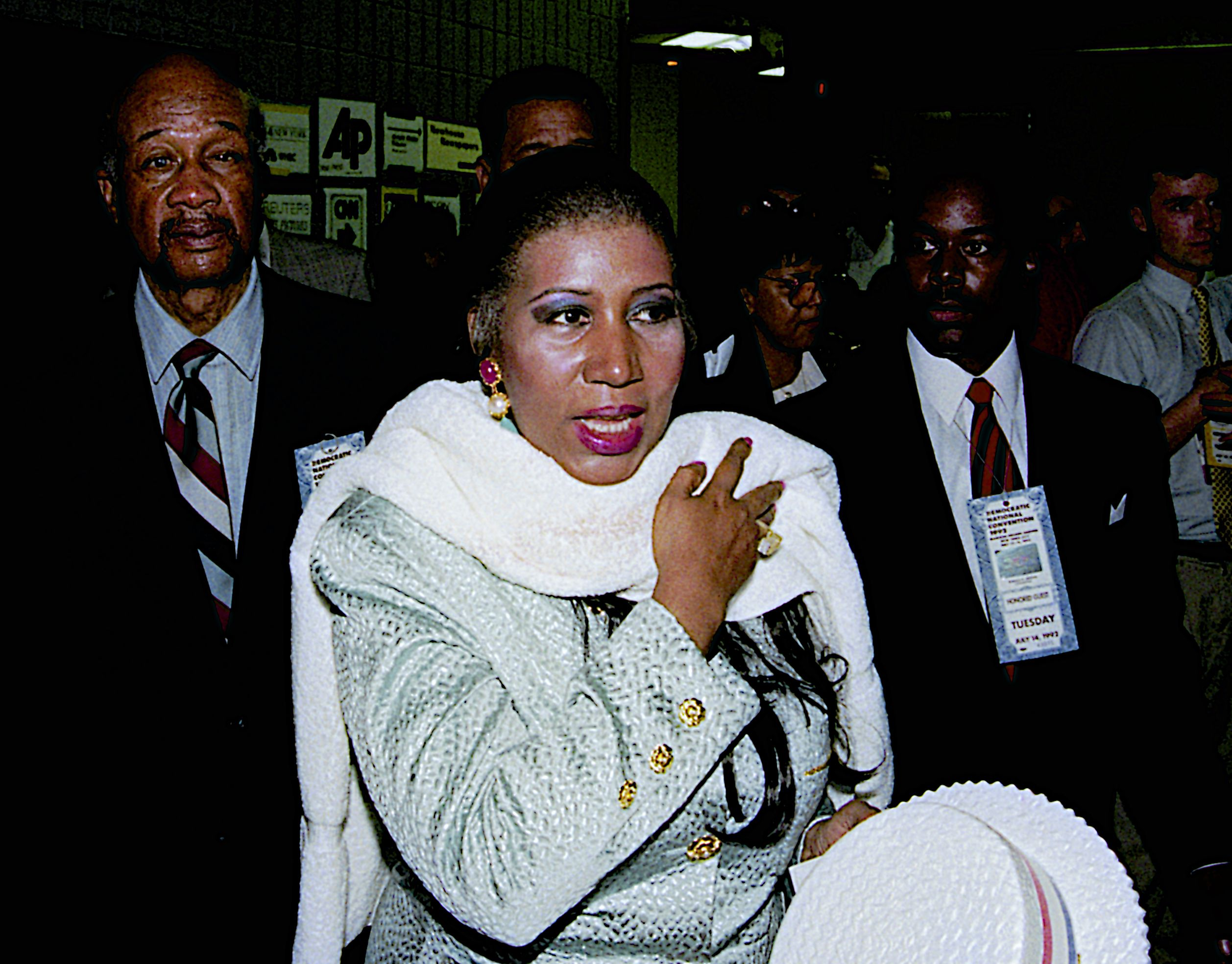 Aretha Franklin At The Democratic National Convention, New York, USA - 14 Jul 1992
