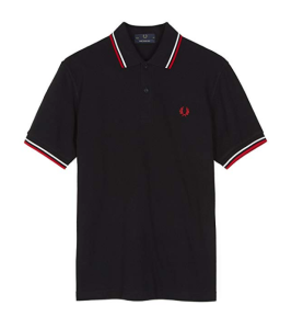 Black Polo Shirt Fred Perry