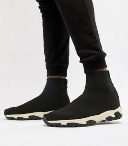 Black Sock Sneakers Men's