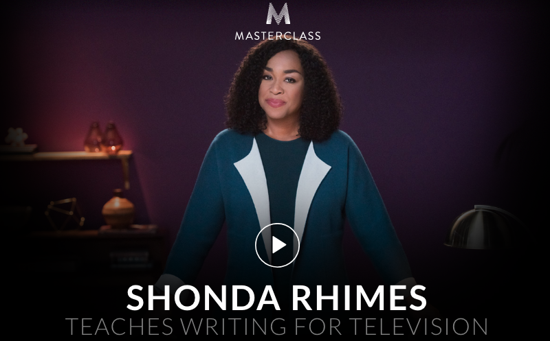 Shonda Rhimes teaches TV Writing