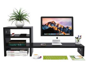 desk shelves monitor stand