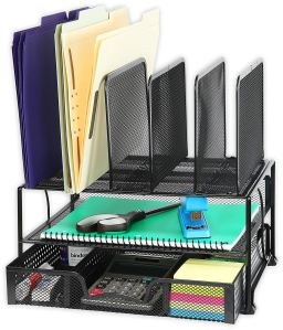 desk shelves mesh organizer