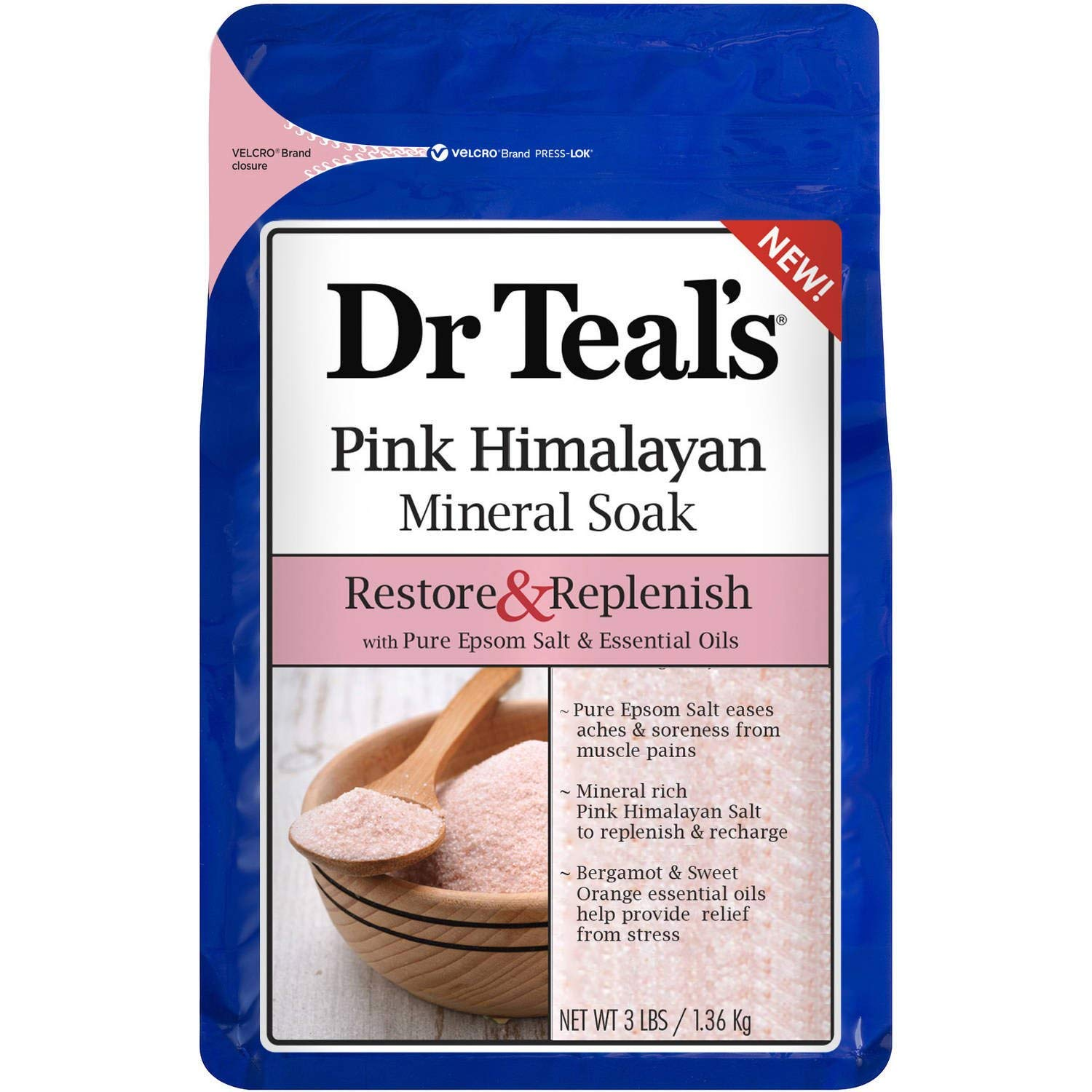 himalayan salt pink best uses dr. teal's mineral soak restore and replenish
