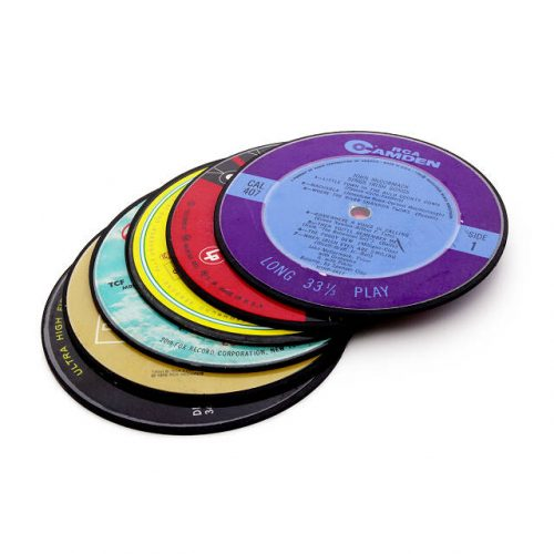 stocking stuffer ideas - Upcycled Record Coasters