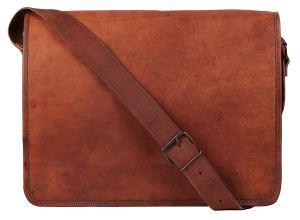 Rustic Town Vintage Crossbody Genuine Leather Laptop Messenger Bag