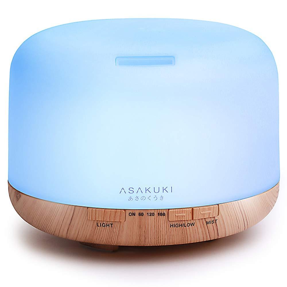 asakuki essential oil diffuser led
