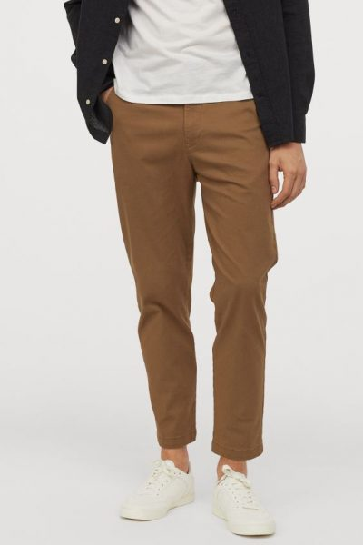 best chinos 2020 - H&M Slim Fit Cropped Chinos