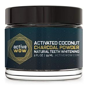 ow activated coconut charcoal powder natural teeth whitening