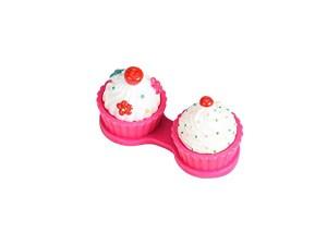 Lookatool Cute Cake Contact Lens Case