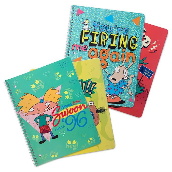 best spiral notebooks under $20 novelty nickelodeon splat 4 pack