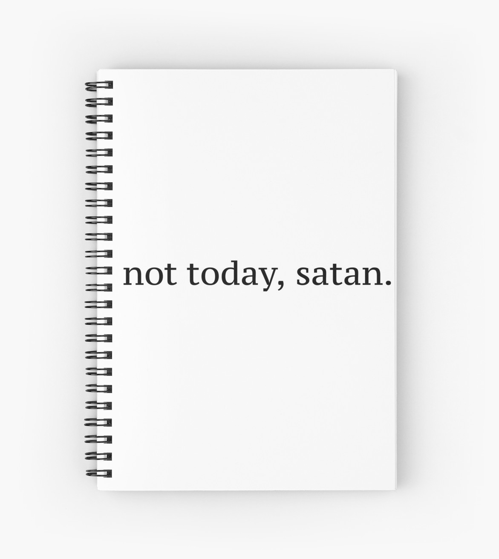 best spiral notebooks under $20 novelty not today satan