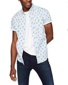 Button-up Short Sleeve Shirt Men's