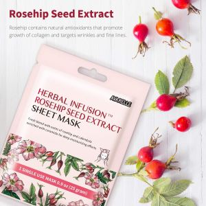 Avarelle Herbal Infusion Rosehip Seed Extract Sheet Mask