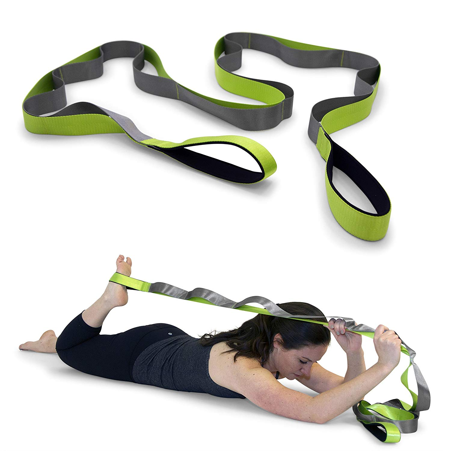 stretching routine best tools post-workout amazon Gradient Fitness Stretching Strap
