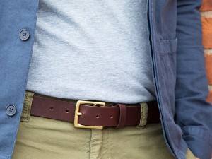 Grommet leather belt men's todder