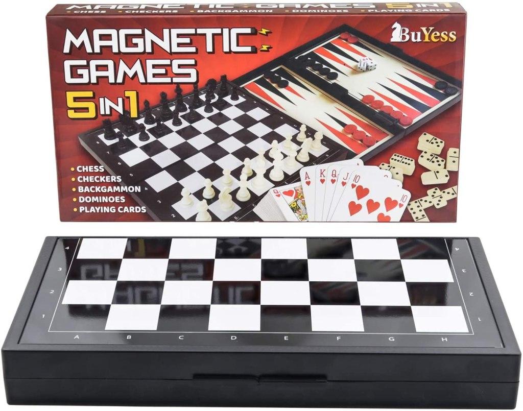 5 in 1 Magnetic Mini Board Games