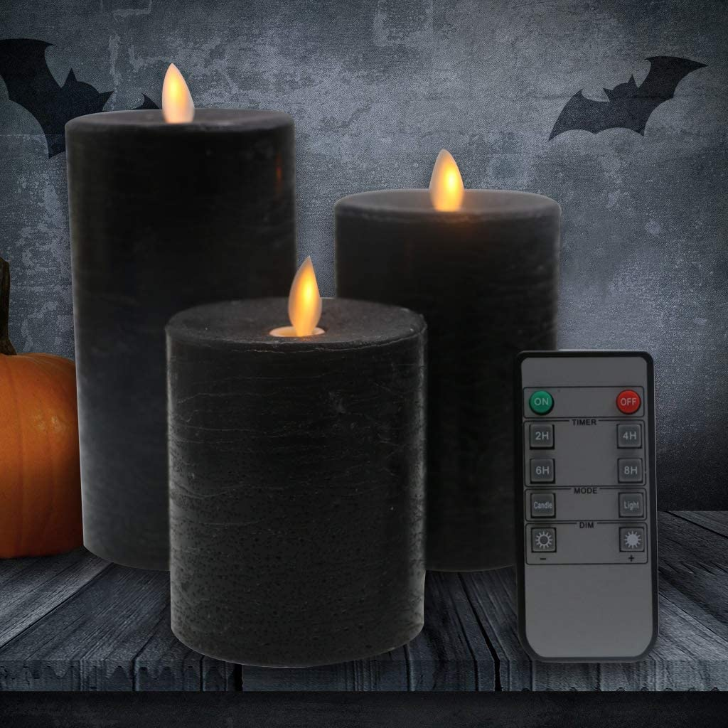 black led candles, Halloween decor ideas