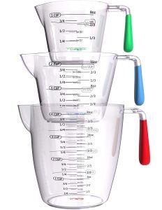 Vremi 3 Piece Plastic Measuring Cups Set
