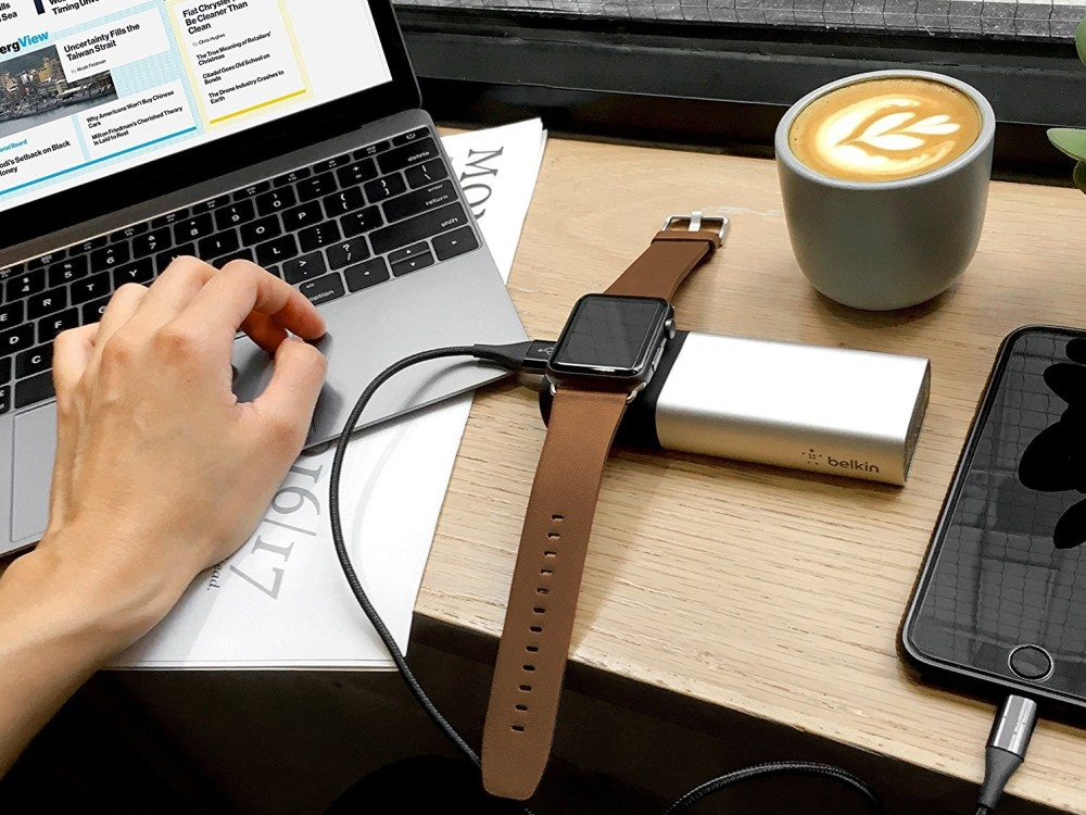 This 6,700 mAh Portable Charger Works With an iPhone And Apple Watch