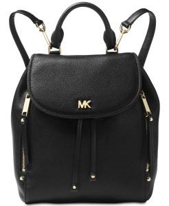 Black Leather Backpack Michael Kors