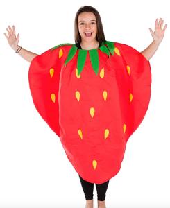 strawberry costume, work appropriate halloween costume, work party halloween costume