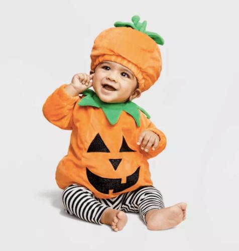 Hyde & EEK! Boutique Baby Pullover Pumpkin Halloween Costume with Hat