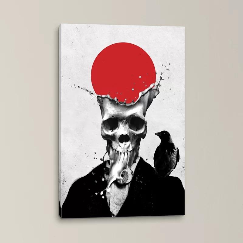 skull melting canvas