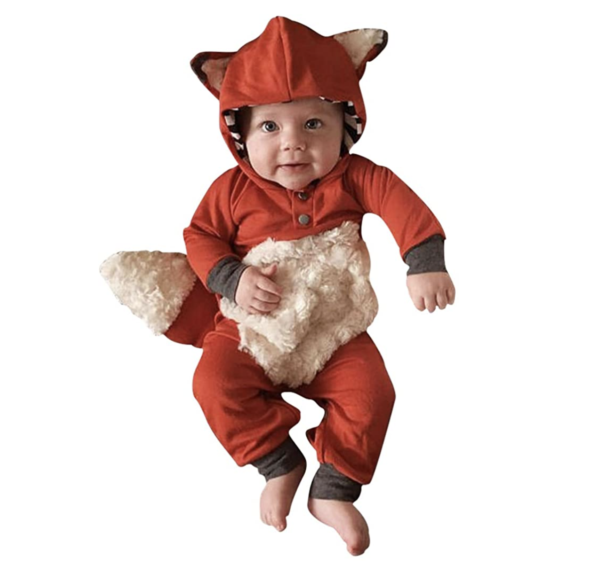 Baby in a fox costume
