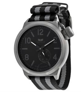 Canteen Zulu Black Dial Striped Nylon Strap Men's Watch