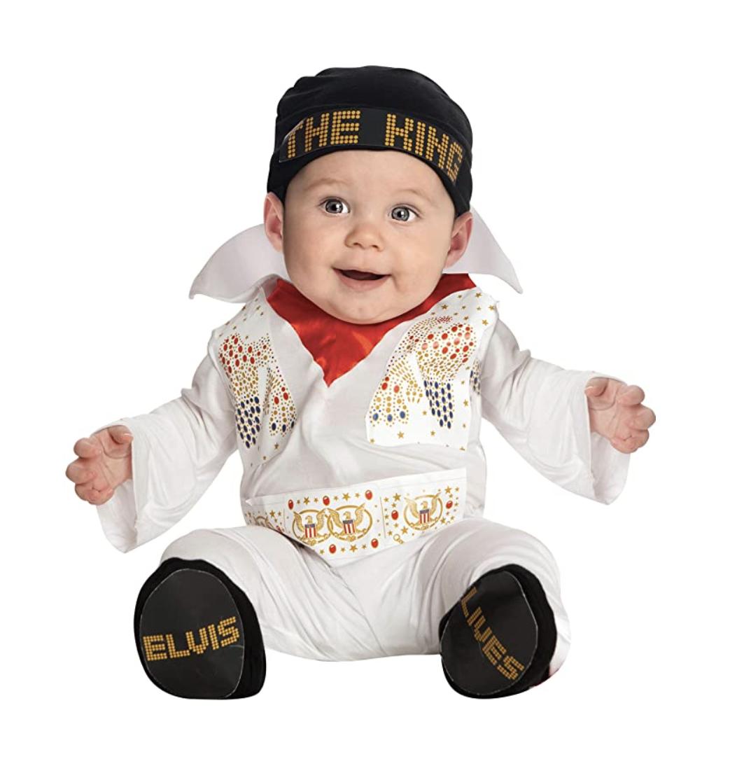 Baby in an Elvis costume, best baby halloween costumes