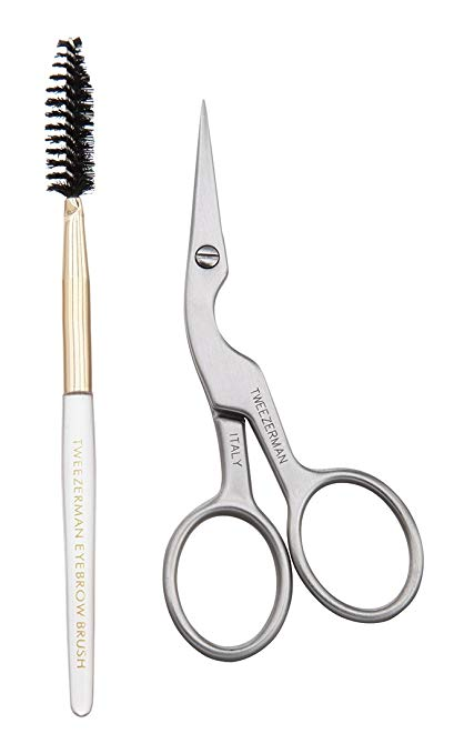 how to do your eyebrows no plucking tools scissors brush tweezerman stainless brow shaping