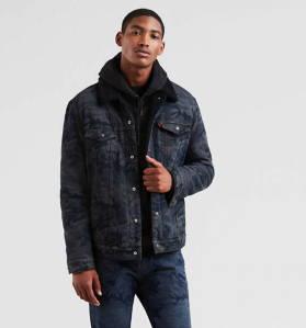 Black Trucker Jacket Men's Levi's