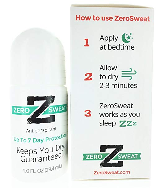 sweaty hands feet hyperhidrosis over-the-counter treatments ZeroSweat Antiperspirant