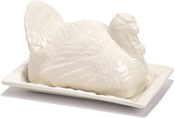 turkey butter dish