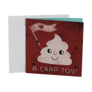 Hallmark Studio Ink Birthday Greeting Card (I Love You A Crap Ton)